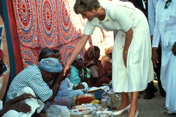 Princess Diane (Diana) (Lady Di) in Hyderabad, India 14/02/1992