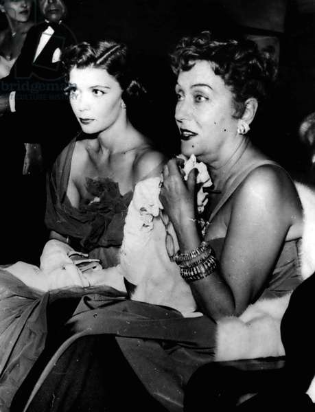 Aug. 08, 1954 - International Film Festival In Venice. Gloria Swanson And Daughter