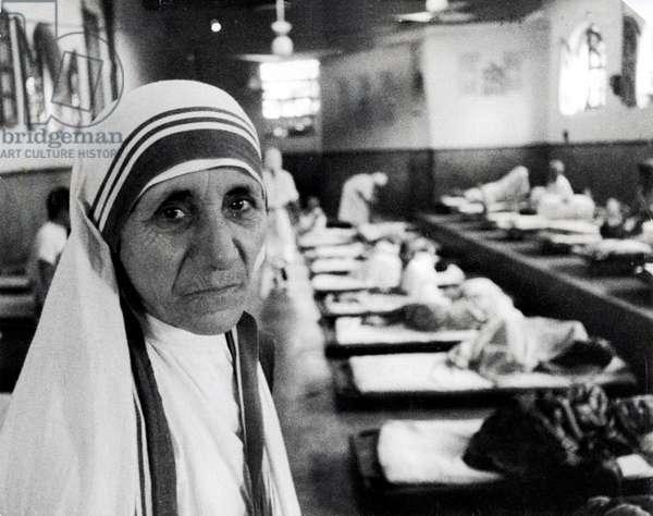 1980 Calcutta India Portrait of Mother Teresa (Theresa) (1910-1997)
