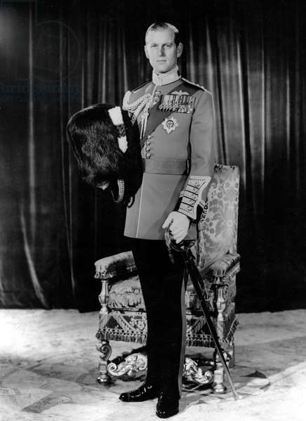 June 1, 1954 - London, England, U.K. - PRINCE PHILIP (Philip Mountbatten) in the uniform of 'Welsh Guards.'