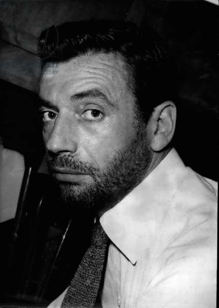 Portrait of Yves Montand (1921-1991), July 1956