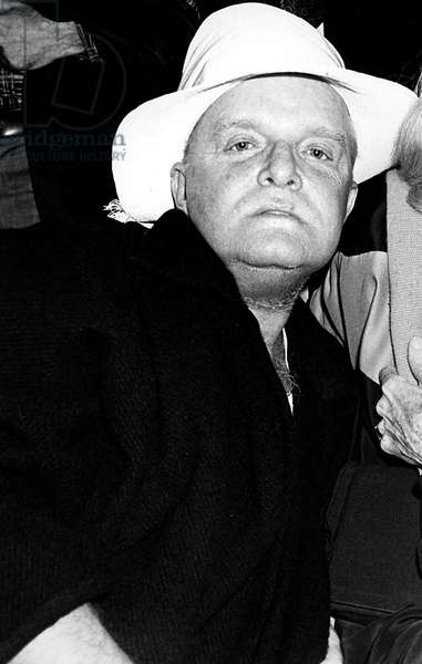 Portrait of the writer Truman Capote in 1976