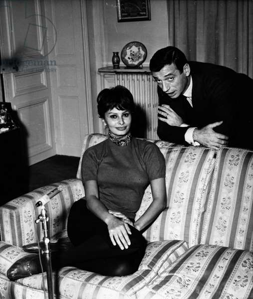 22/11/1958 actress SOPHIA LOREN and singer YVES MONTAND