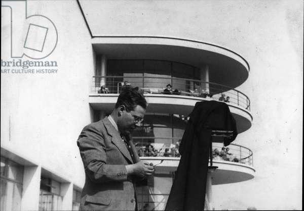 Portrait of Laszlo Moholy Nagy (Moholy-Nagy) (1895-1946) a London 1936