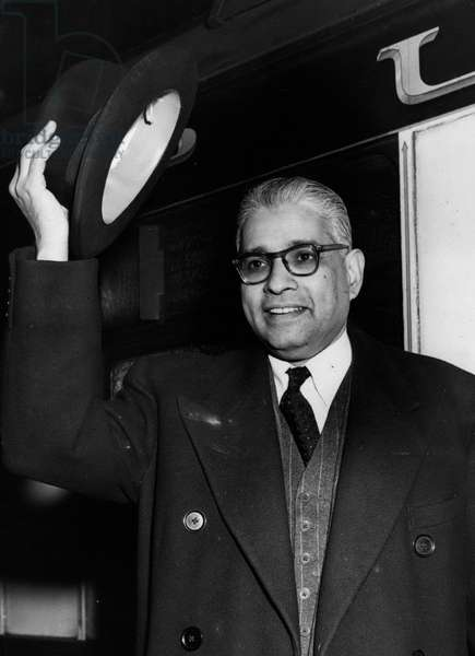 Jan. 01, 1955 - New Pakistan Commissioner Arrives With His Family: The new Pakistan High Commissioner, Mohamed Ikramullah, arrived at Victoria this afternoon with his wife and four children