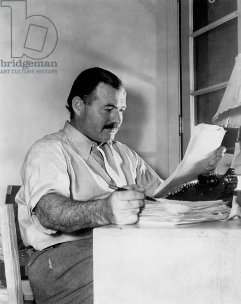 Portrait of American writer Ernest Hemingway in 1939
