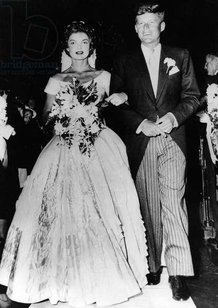 Sep. 12, 1953 - Newport, RI, U.S. - Wedding of JACQUELINE KENNEDY and President JOHN F. KENNEDY