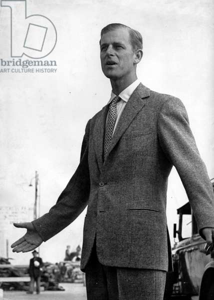 Jan. 1, 1950 - Sanremo, Italy - Prince Philip (Philip Mountbatten) while visiting Italy.