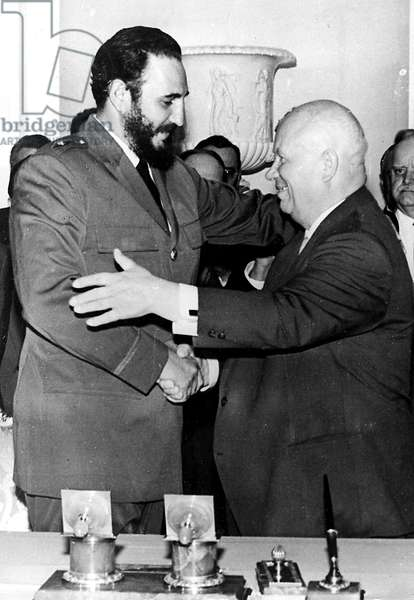 Cold War: Meeting of Cuban Head of State Fidel Castro and Nikita Khrushchev (Khrushchev) at the time of the Cuban Missile Crisis 1962