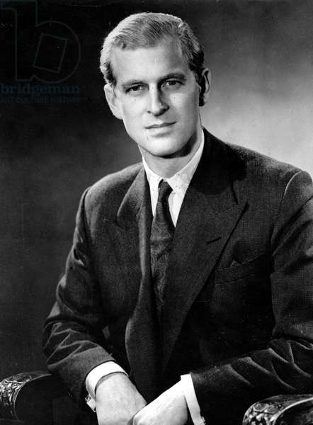 Nov. 13, 1947 - London, England, U.K. - Portrait of Prince Philip (Philip Mountbatten)