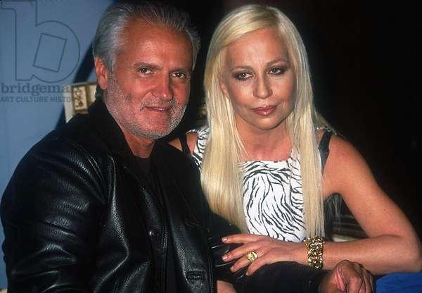 Portrait of Donatella and Gianni (1946-1997) Versace in 1996
