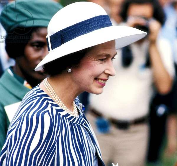 Portrait of Queen Elizabeth II of England in 1977