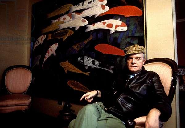 Writer Truman Capote (1924-1984) at Plaza Hotel New York 1970 - 1975