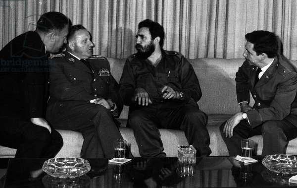 March 4, 1971 - Havana, Cuba - FIDEL ALEJANDRO CASTRO RUIZ (born 1926) at the reception given to the Czechoslovakian defense Minister