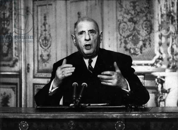 Dec. 31, 1966 - President of Gaulle Giving a Speech