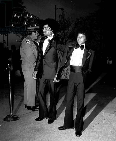 Michael Jackson at the 1973 Academy Awards (b/w photo)
