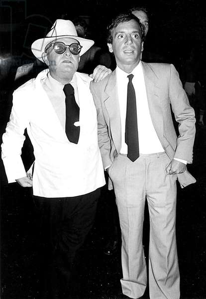 Portrait of Writer Truman Capote and Steve Rubell Owner of Nightclub Studio 54 1978