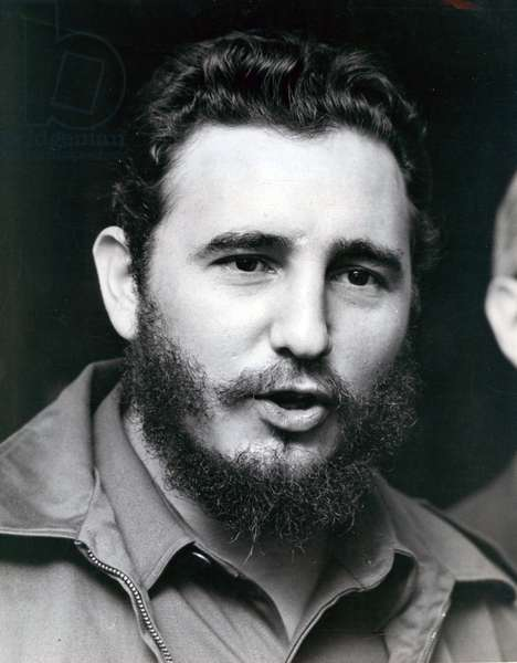 Portrait of Head of State FIDEL CASTRO during a visit to Washington, USA 27/04/1959