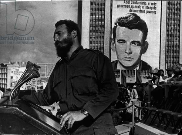The US and Cuba announced an agreement between the two countries that will be a first step towards normalizing relations. PICTURED: Aug. 31, 1966 - FIDEL CASTRO gives an address to the Confederation of Workers