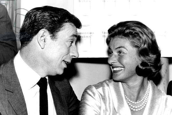 Portrait of Ingrid Bergman and Yves Montand, 1961
