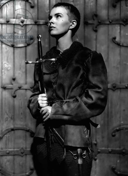 """Jan. 01, 1955 - Filming Of Bernard Shaw's"""" St. Joan"""": Filming started this morning at Shepperton Studios of George Bernard Shaw's"""" St. Joan"""" - with Jean Seberg in the name role - produced by Otto Preminger"""
