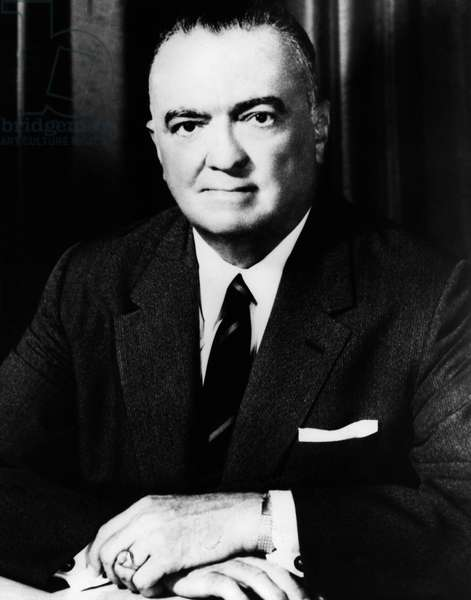 Jan. 1, 1960 - Washington D.C., USA - Portrait of the director of the United States Federal Bureau of Investigation (FBI) JOHN EDGAR HOOVER (1895-1972)