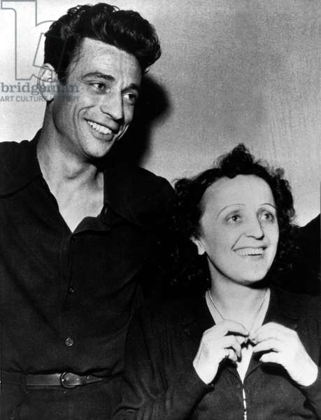 Around 1945, at the ball des petits lits blancs in Paris - Paris, France - PICTURED: Edith Piaf with French actor and singer YVES MONTAND