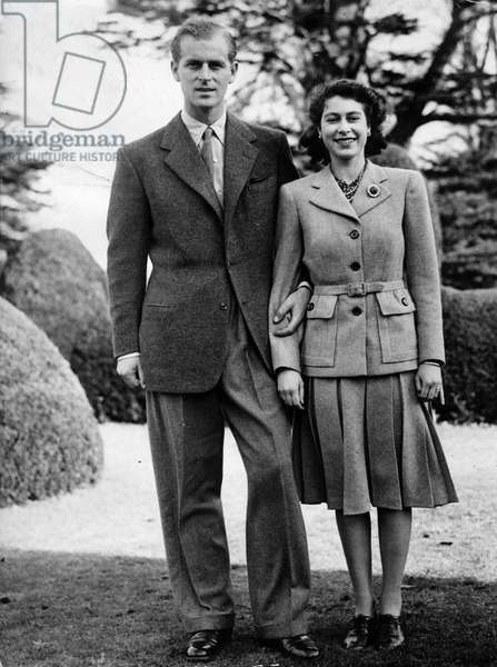 Nov 23, 1947 - Broadlands, Hampshire, U.K. - QUEEN ELIZABETH and PRINCE PHILIP during their honeymoon