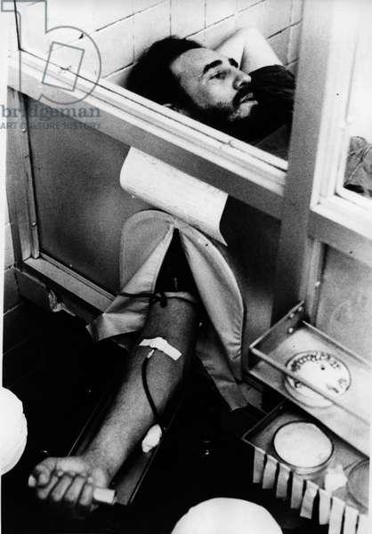 June 12, 1970 - Havana, Cuba - FIDEL ALEJANDRO CASTRO RUIZ (born 1926) giving blood